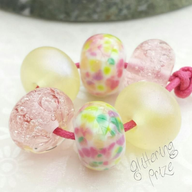 Darling Buds Lampwork Beads