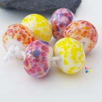 Sunshine Tropical Trio Lampwork Beads