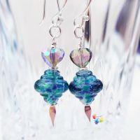 Peacock Spinner Earrings Sterling Silver
