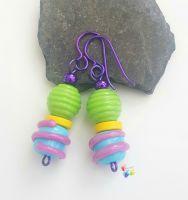 Twisting Bright Niobium Earrings
