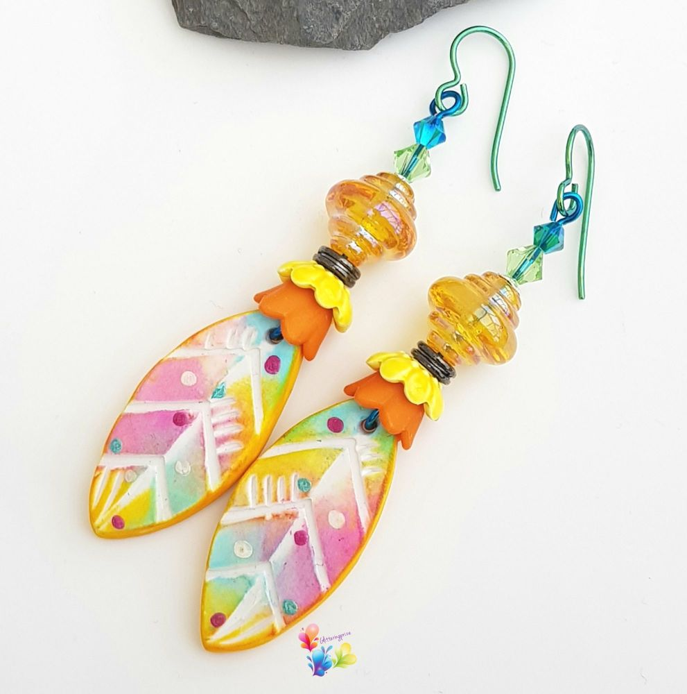 Carnival Niobium Earrings (Hypo-Allergenic)