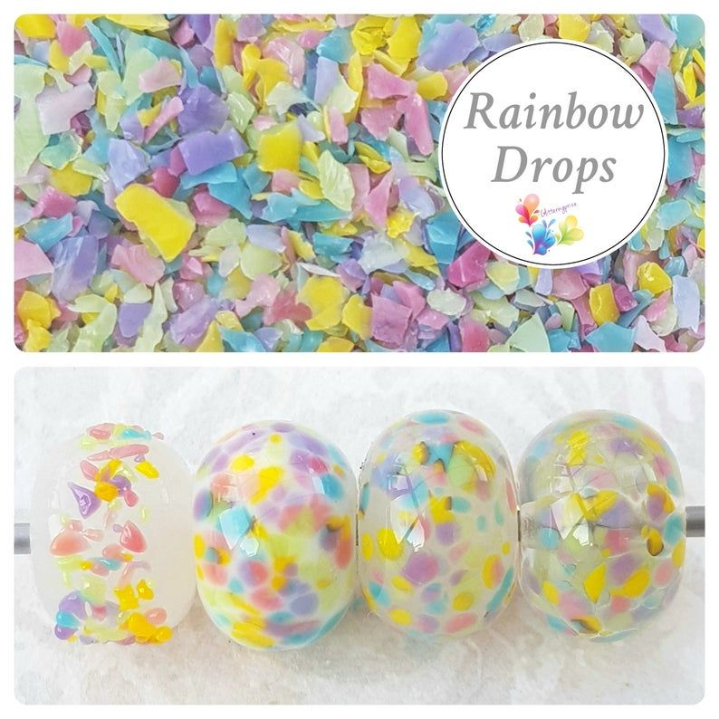 Rainbow Drops Fine Grind Frit Blend