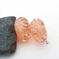 Coral Bubbles Lampwork Bead Pair