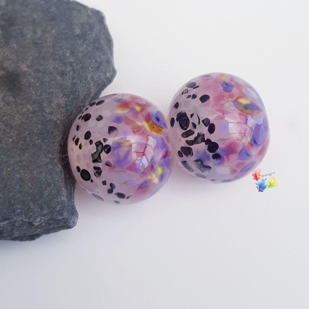 Tropical Shadow Boho Lampwork Beads