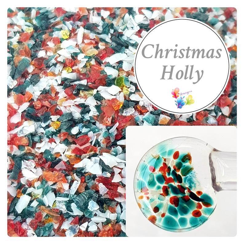 Christmas Holly Fine Grind Frit Blend