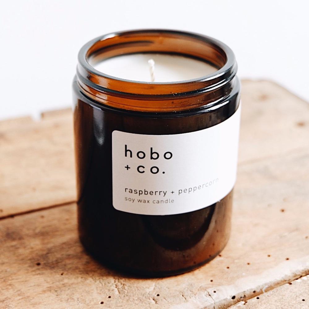 Hobo + Co. Raspberry & Peppercorn Candle