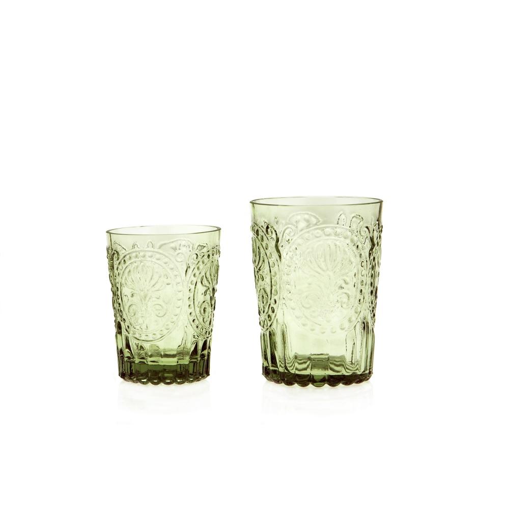 Fleur de Lys Glass Green L