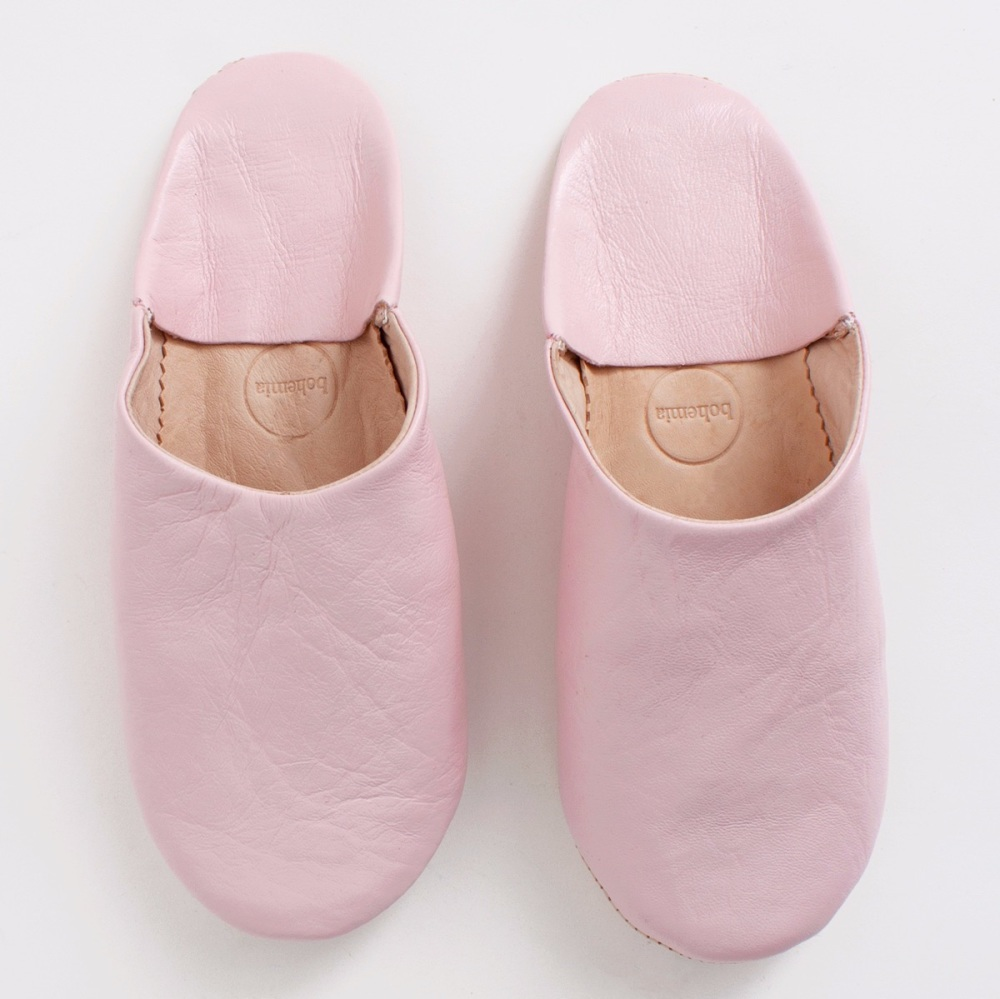 Babouche Slippers Rose Pink