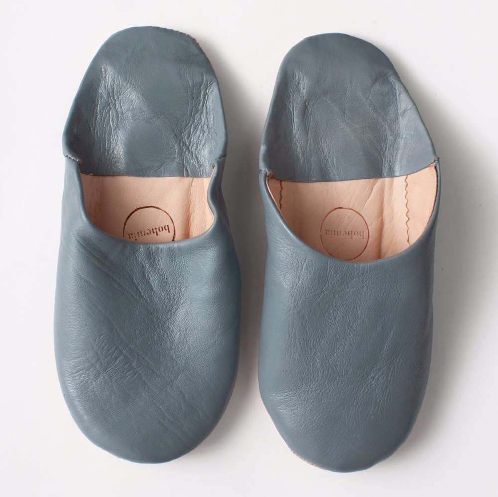Babouche Slippers Slate Grey