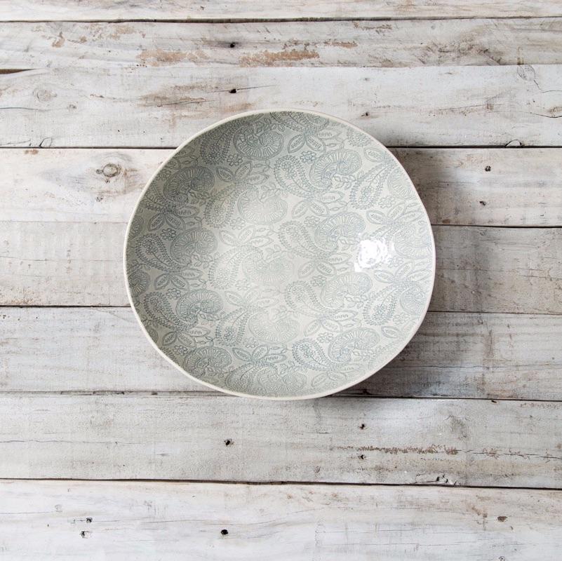 Salad Bowl S Patterned Warm Grey
