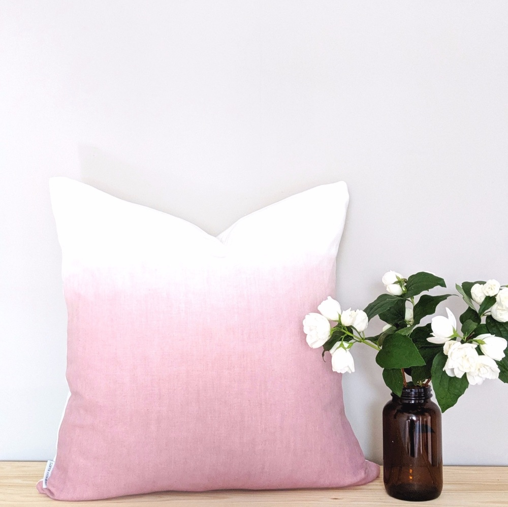 Ombre Hand Dyed Linen Cushion