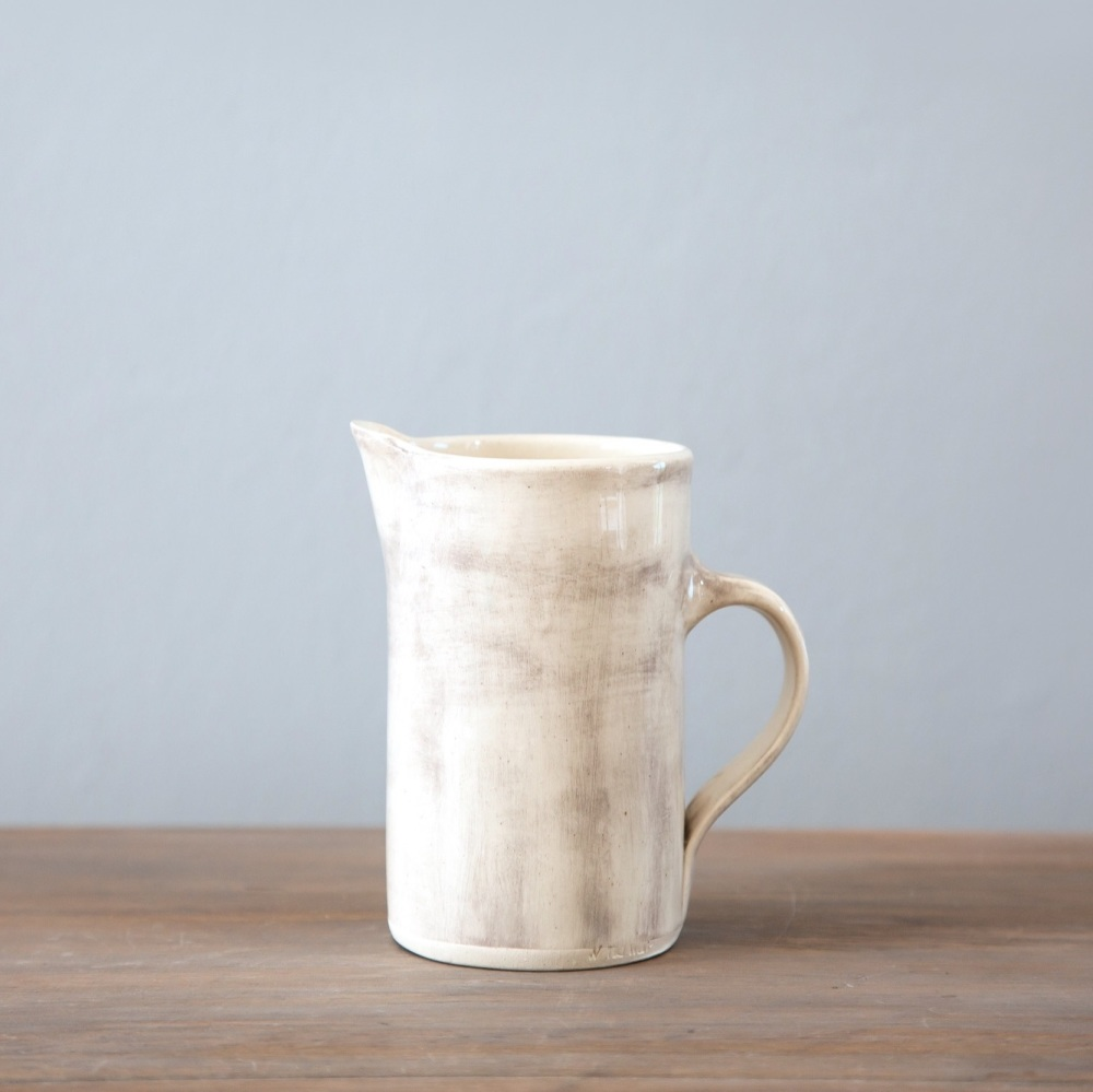 Jug Tall Thin 500ml Plain Wash Warm Grey