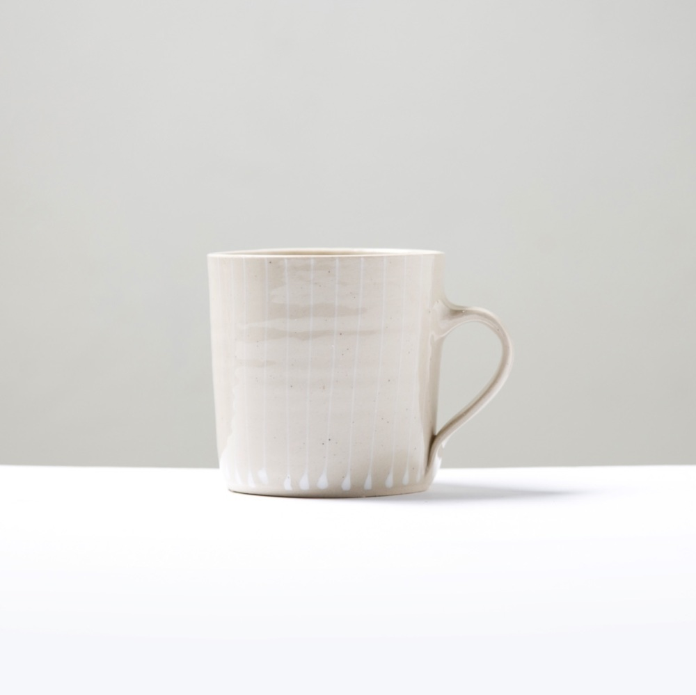 Mug Large Straight Lines White