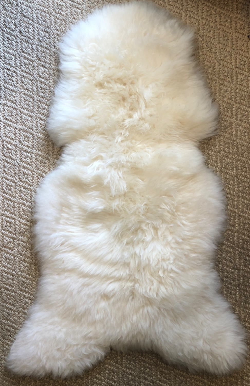 Sheepskin Single Ivory
