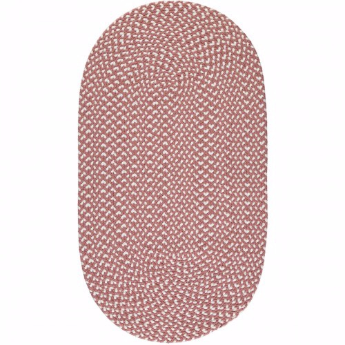 Dusty Pink Eco Braided Rug, 92cmx152cm