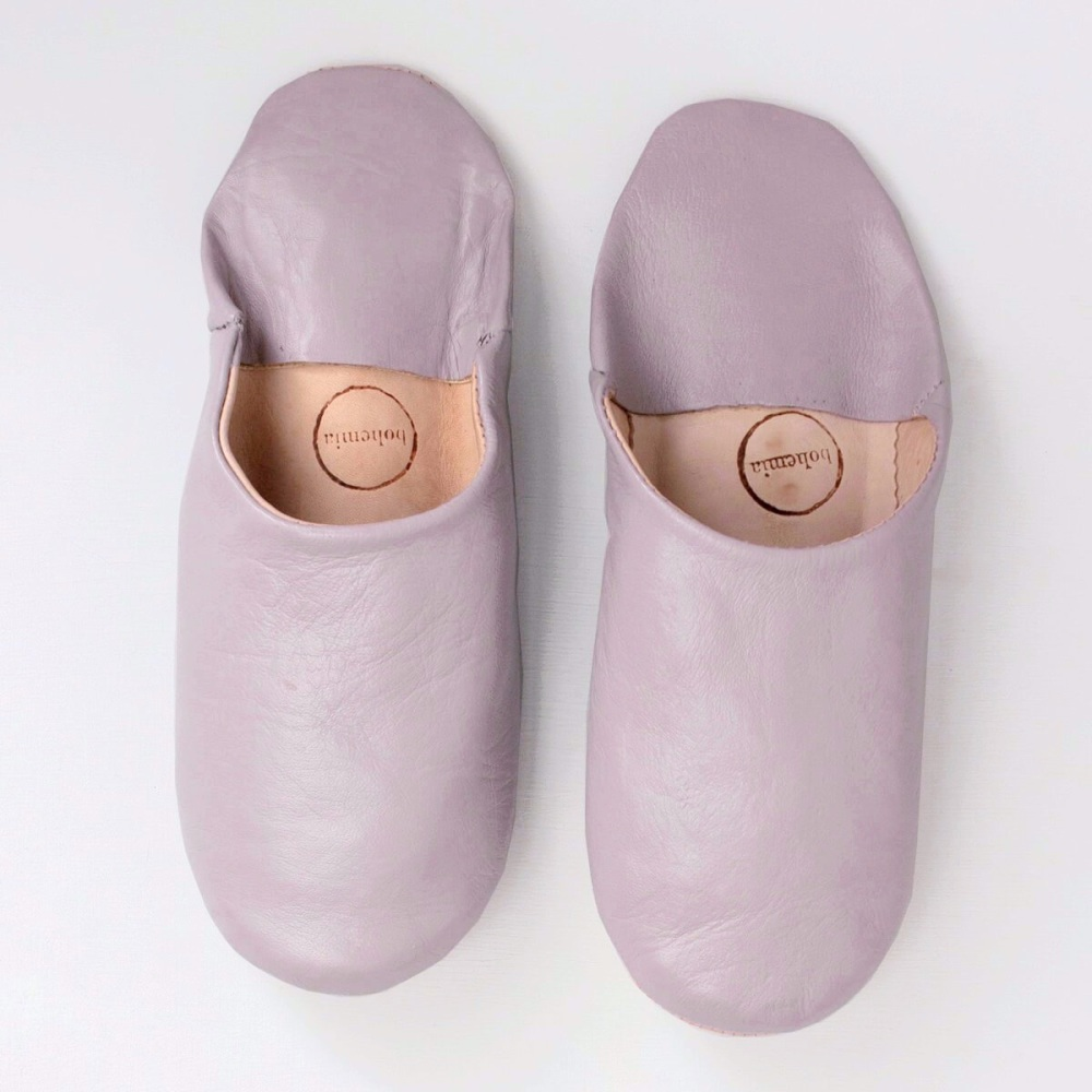 Babouche Slippers Dusky Violet L