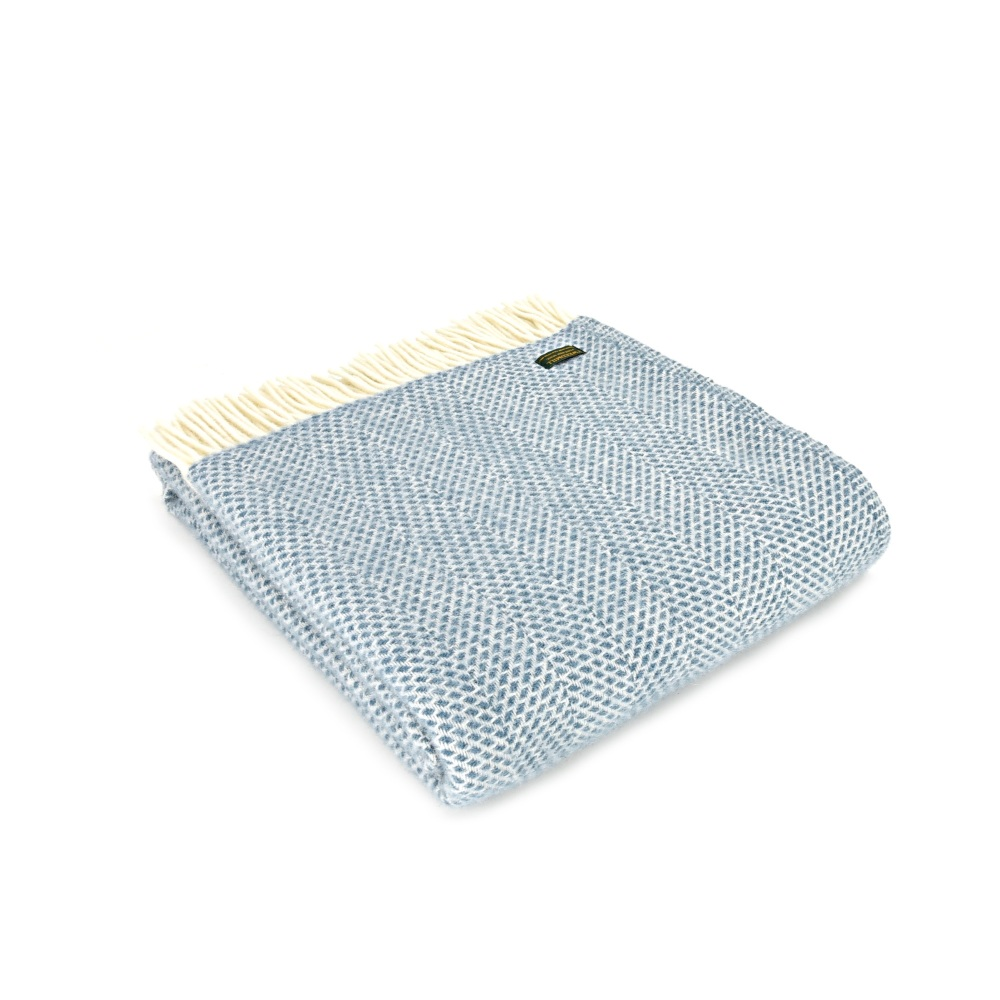 Tweedmill Beehive Throw Petrol Blue