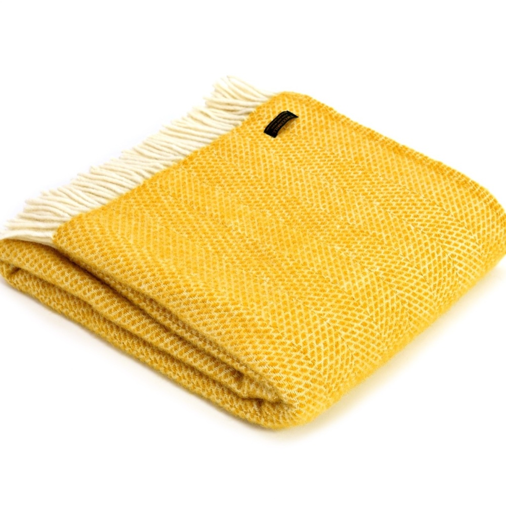 Tweedmill Beehive Throw Yellow