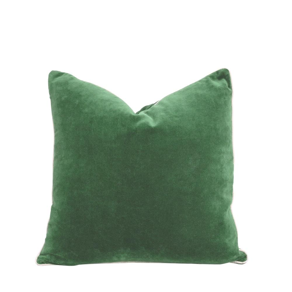 Piped Velvet Cushion