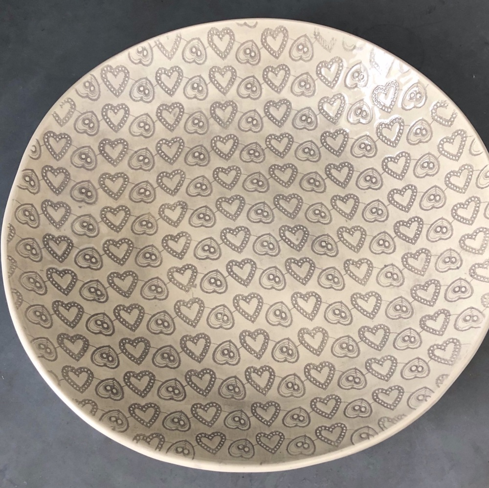 WW Spaghetti L Bowl Warm Grey