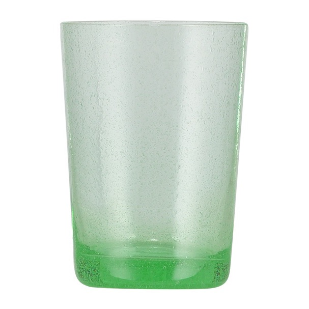 Bubble Glass Tumbler Malachite