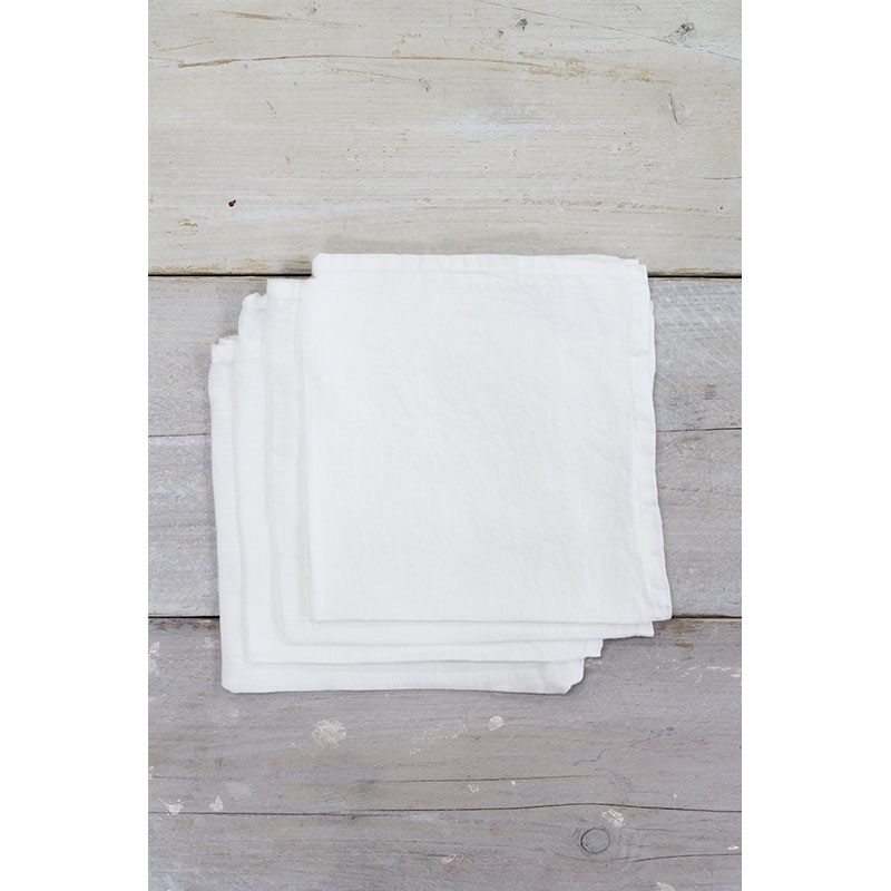 Linen Napkins White (4)