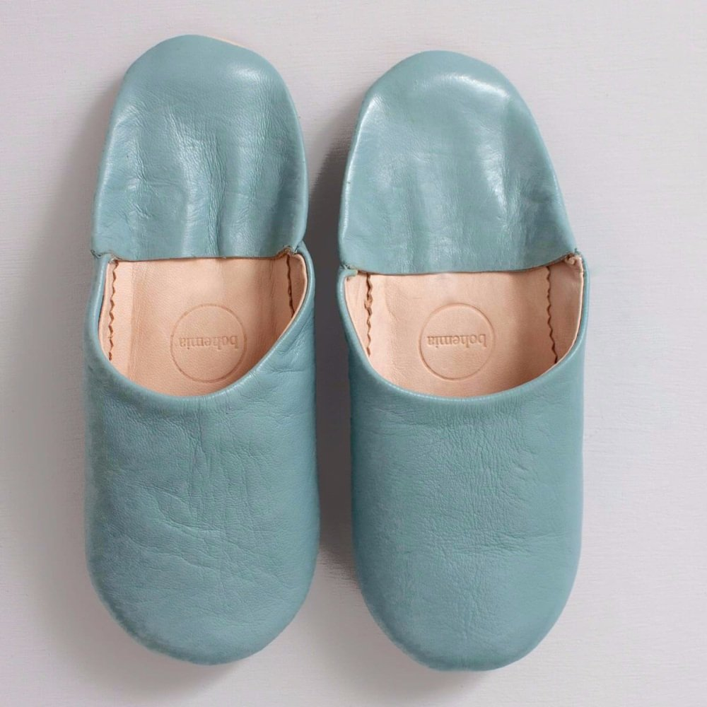 Babouche Slippers Pearl Grey L