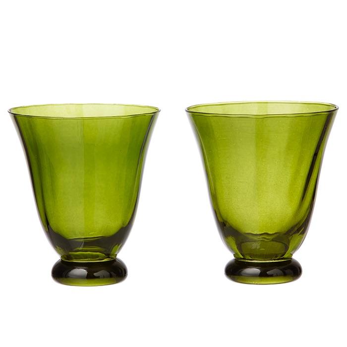 Trellis Water Glass Seaweed