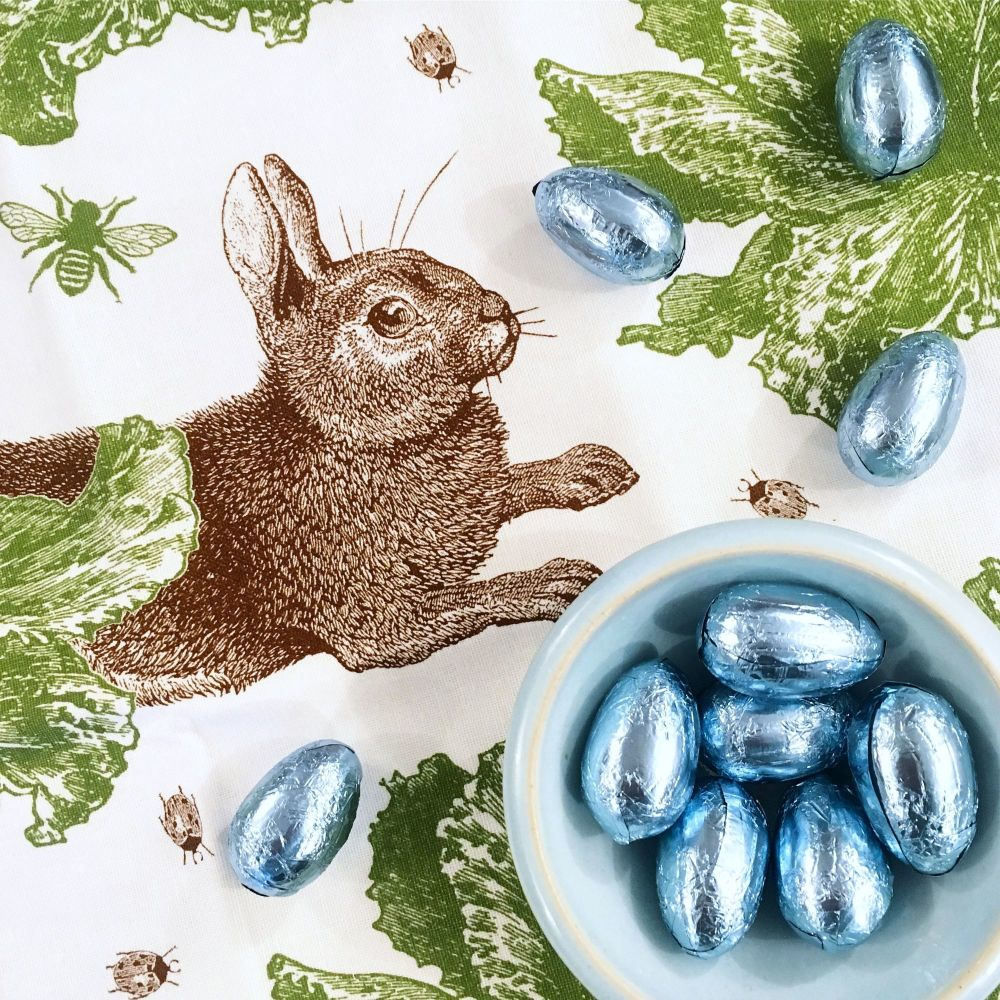 TEA TOWEL - RABBIT AND CABBAGE