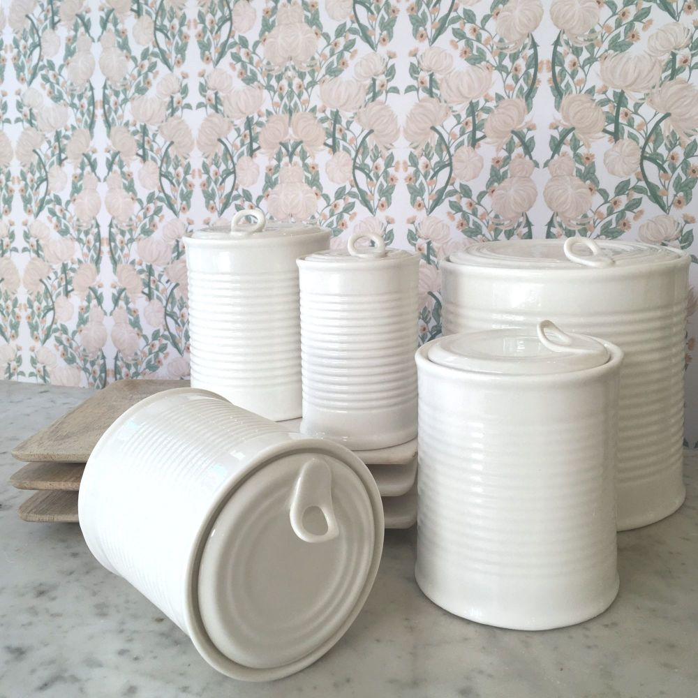 PORCELAIN TIN CANS
