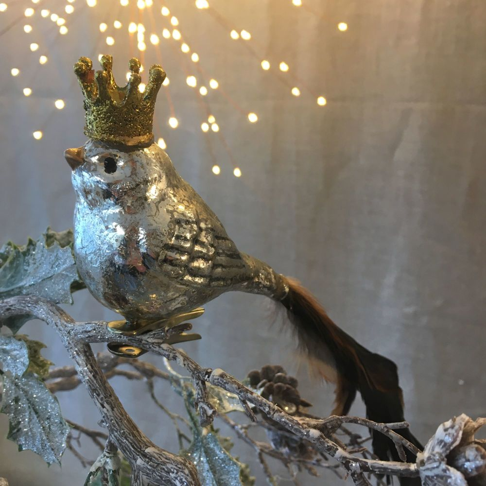 CHRISTMAS DECORATION - BIRD WITH CROWN
