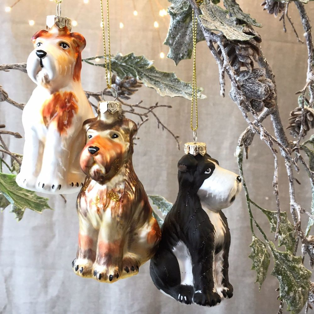 CHRISTMAS DECORATION - DOGS TERRIERS
