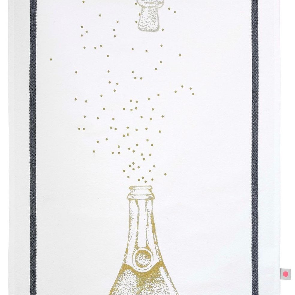 TEA TOWEL - GILDED CHAMPAGNE