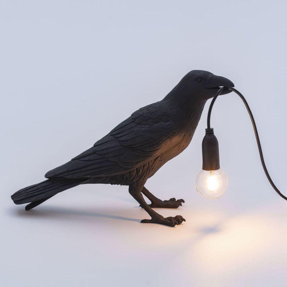 BIRD LAMP BLACK