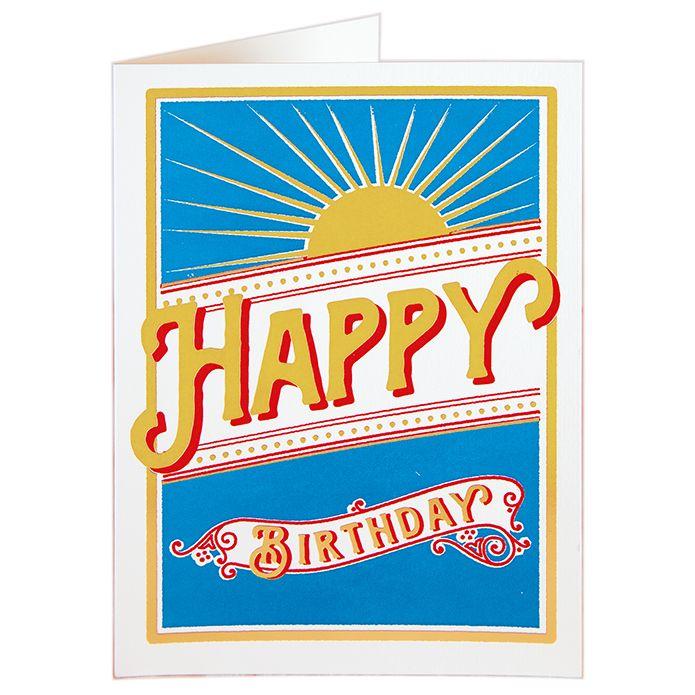 CARD - BIRTHDAY SUNBURST