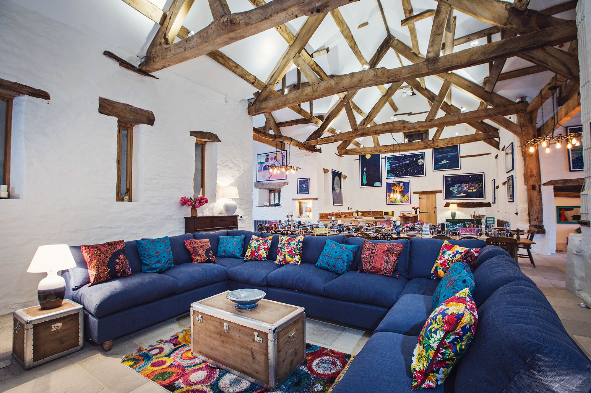 Wern-Y-Cwm Weddings and accomodation Wales great barn sofas
