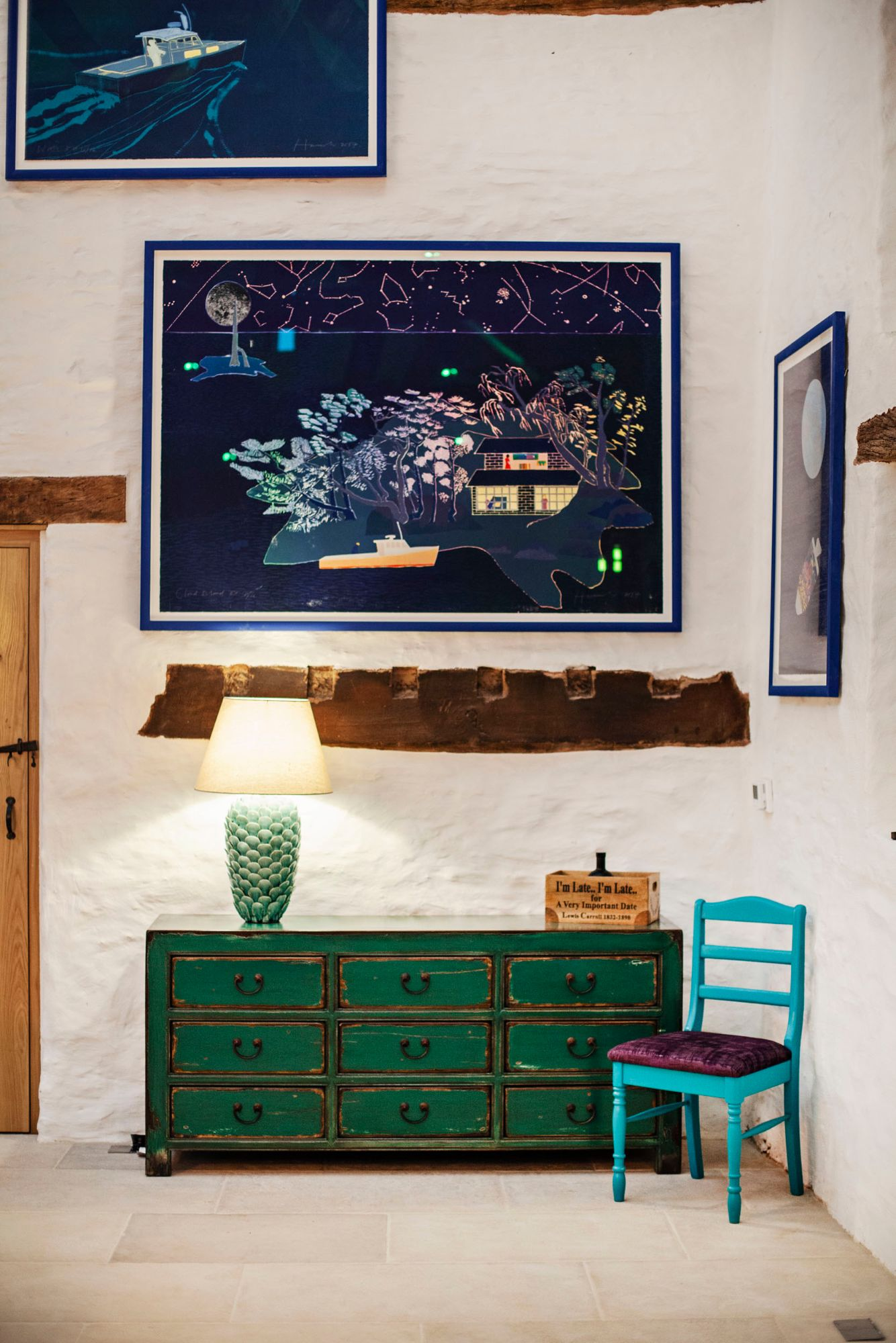 Wern-Y-Cwm Weddings and accomodation Wales great barn artwork dresser