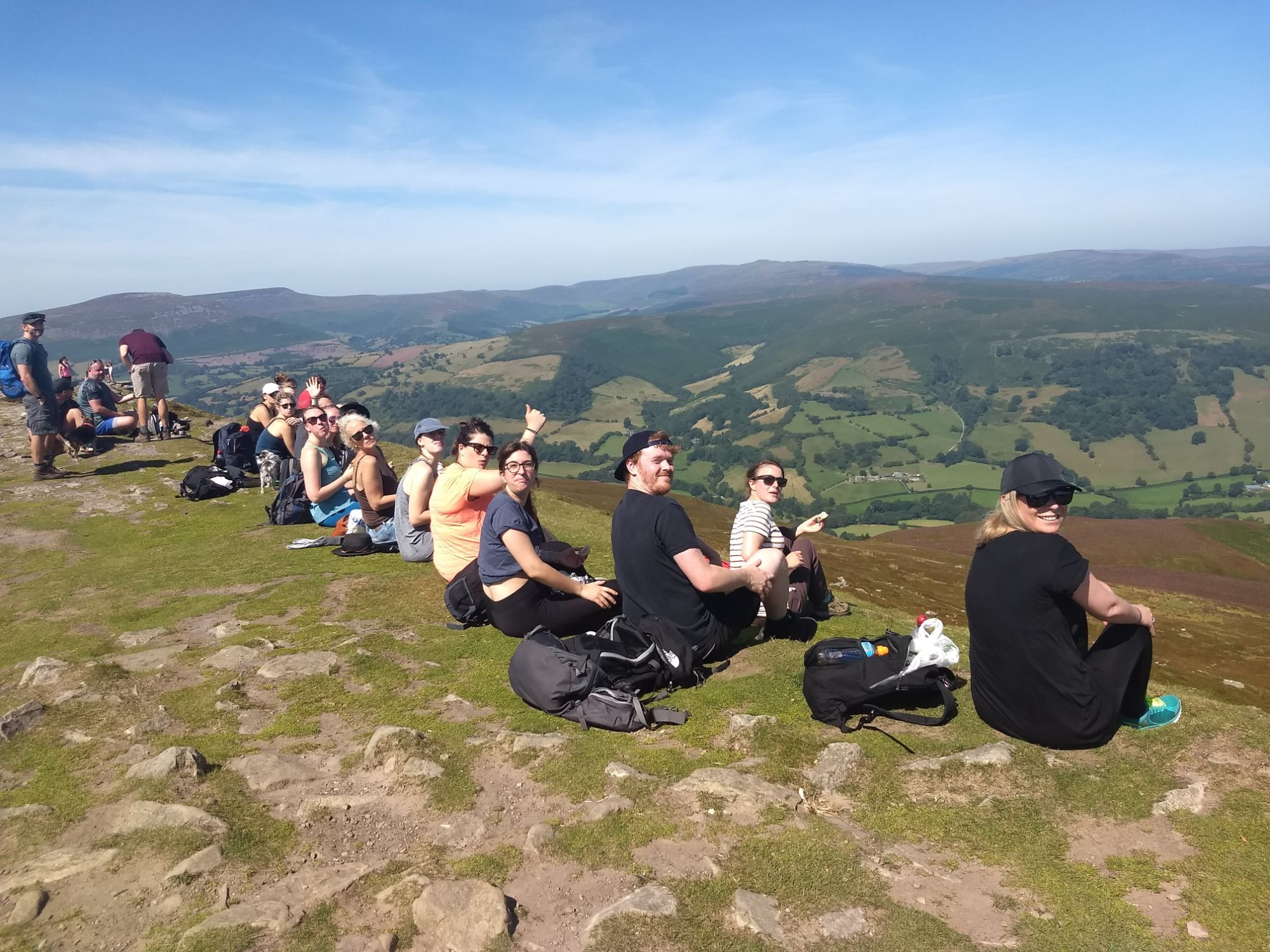 Corporate and business retreats Wern-Y-Cwm -  hikers and walkers looking over Brecon Beacons