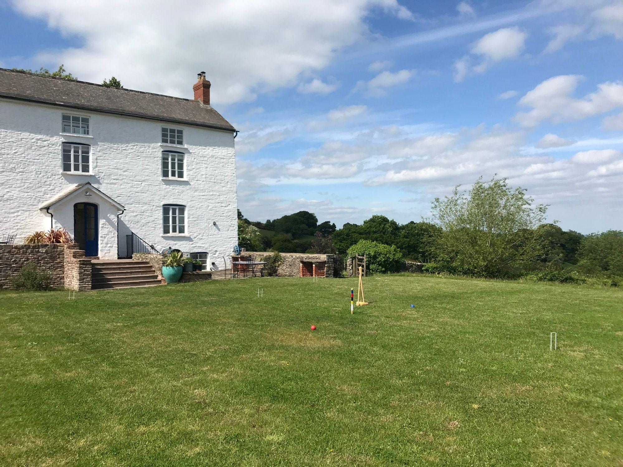 Wern-Y-Cwm Weddings and accomodation Wales croquet on the lawn
