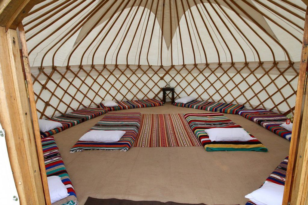 Wern-y-Cwm country house for hire for weddings, events and parties in  Wales - luxury glamping yurts interior