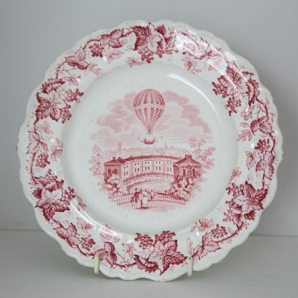 19th Century Ballooning Plate