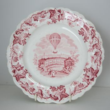 19th Century Ballooning Plate SOLD