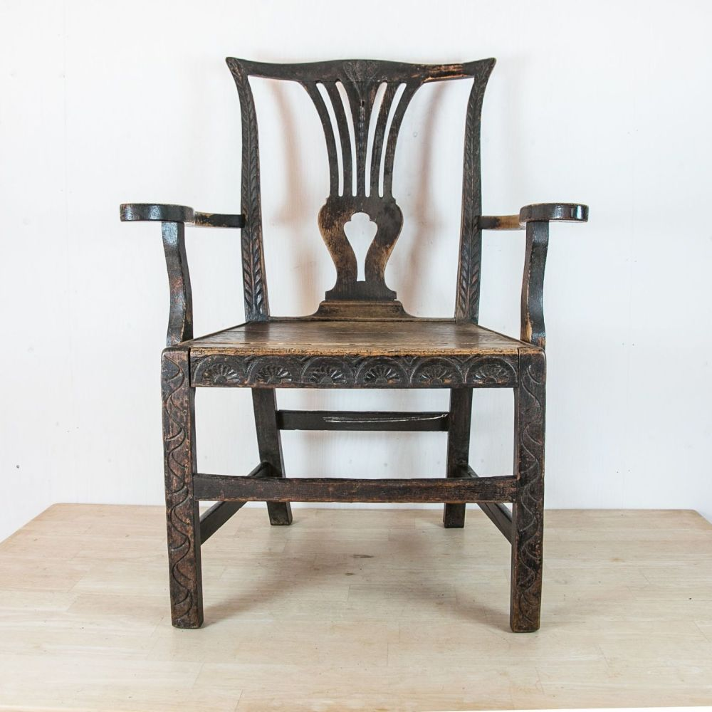 18th C. Country Oak Farmer's Chair £495.00