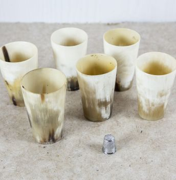 19th Century Horn Beakers SOLD