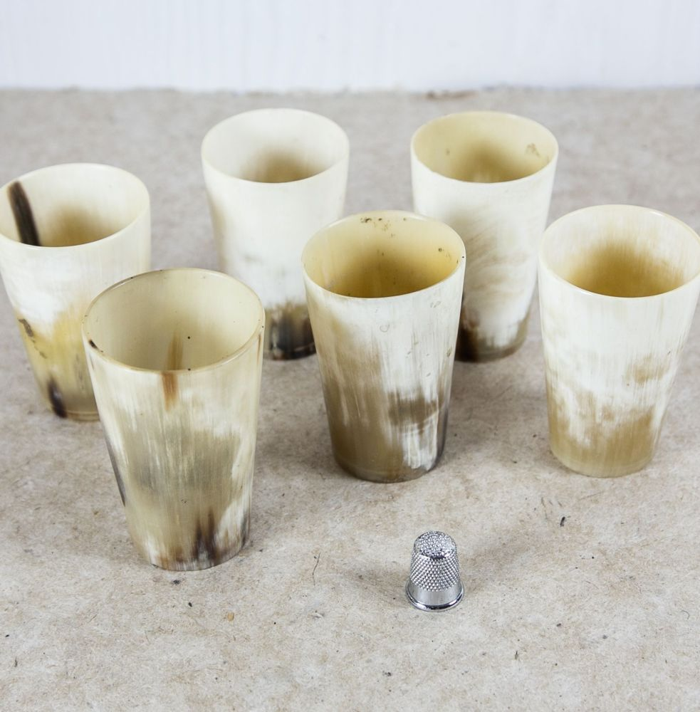 19th Century Horn Beakers