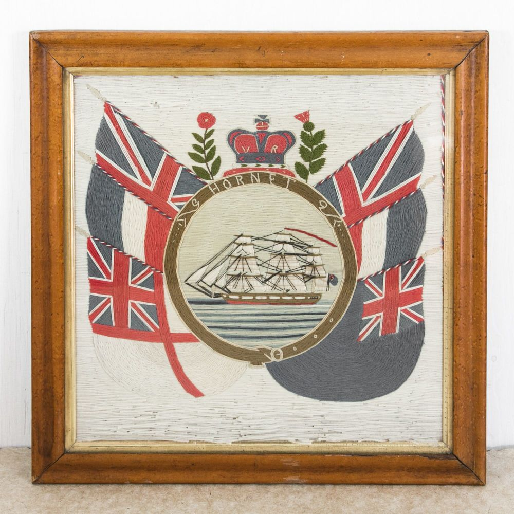 Sailor's Woolwork Ships Picture SOLD