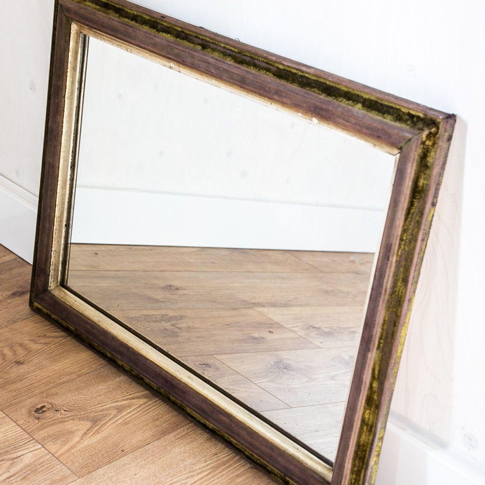 Vintage Velvet Frame Mirror SOLD