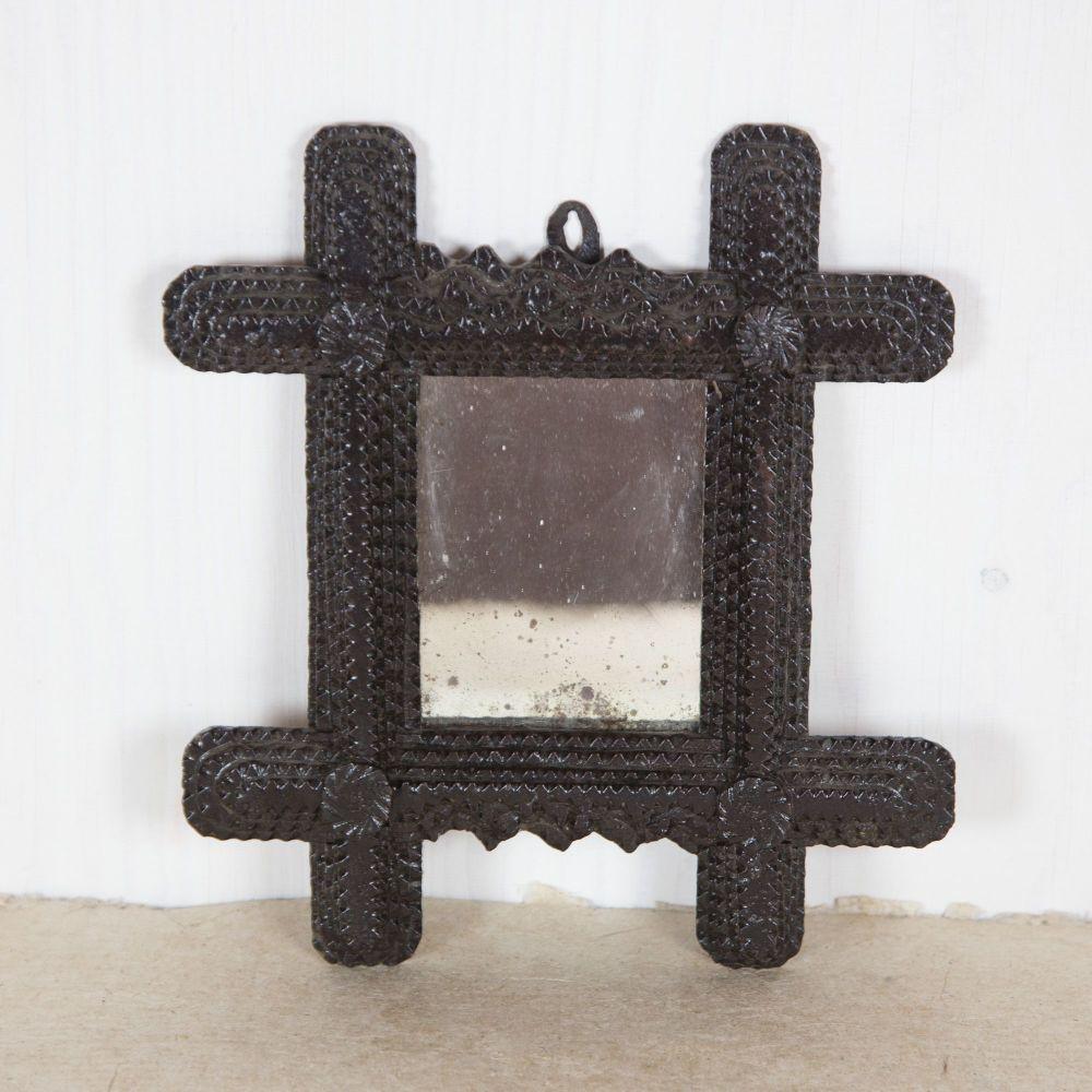 19th C. Black Forest Mirror,