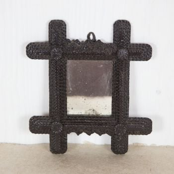 19th C. Black Forest Mirror  SOLD
