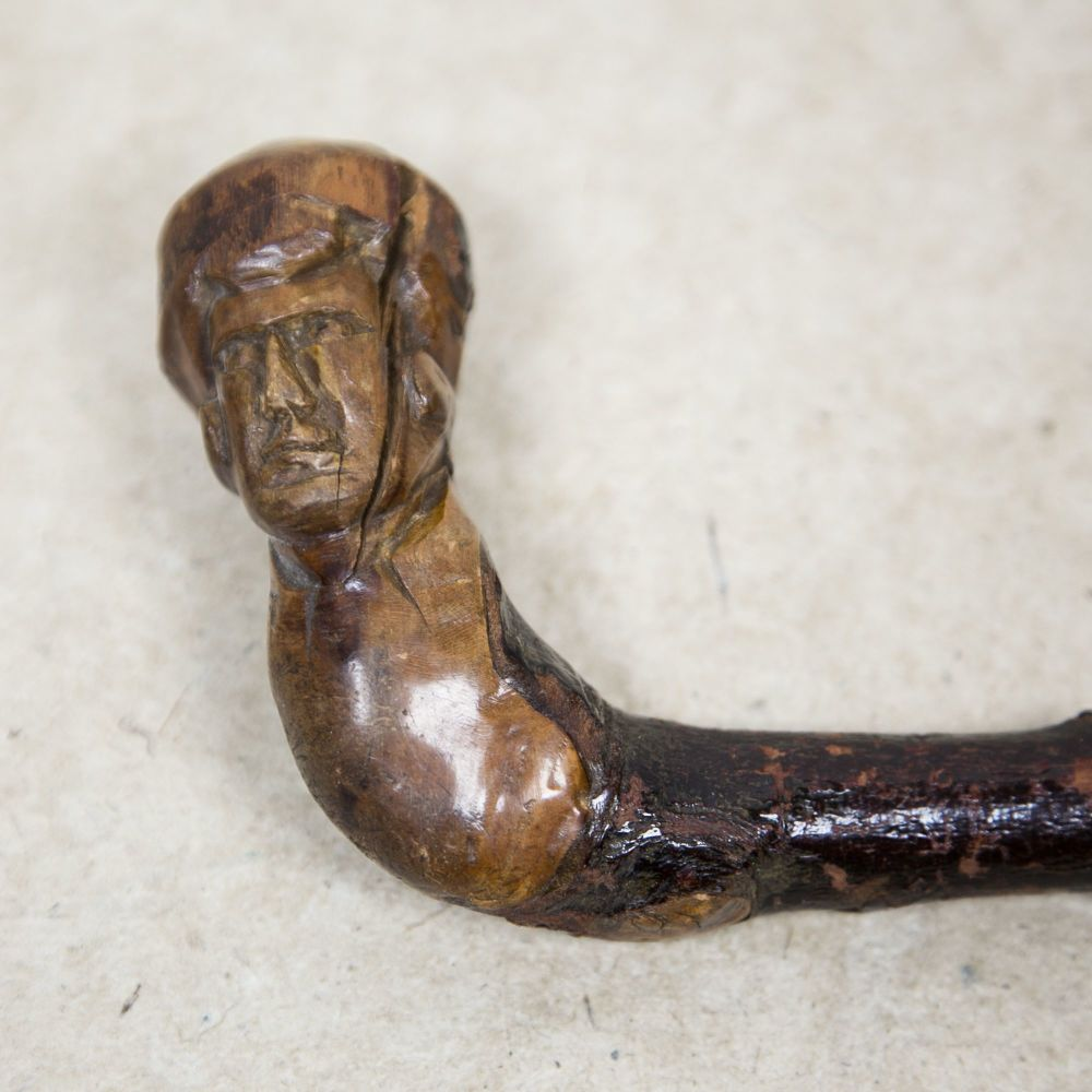 "Antique ""Boxer"" Walking Stick SOLD"